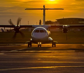 ATR-Propeller-Aircraft-Sunset
