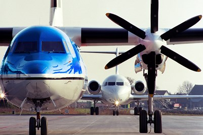Fokker 50 and 100 on platform